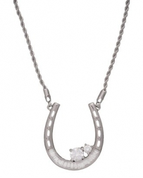 Montana Silversmiths® Ladies' Horseshoe CZ Necklace