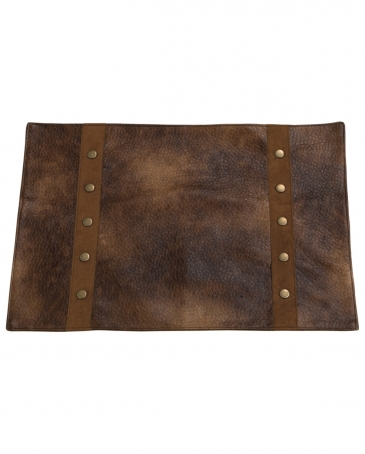Rustic Faux Leather Placemats - Set of 4