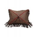X Design Faux Leather Pillow