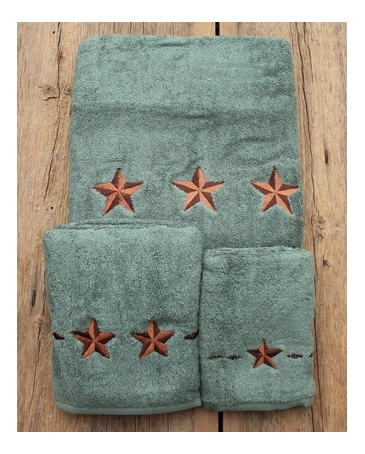Turquoise Star Towel 3 Piece Set