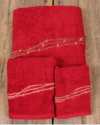 Red Barbwire Towel 3 Piece Set