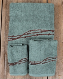 Barbwire Bathroom Towel 3 Piece Set - Turquoise