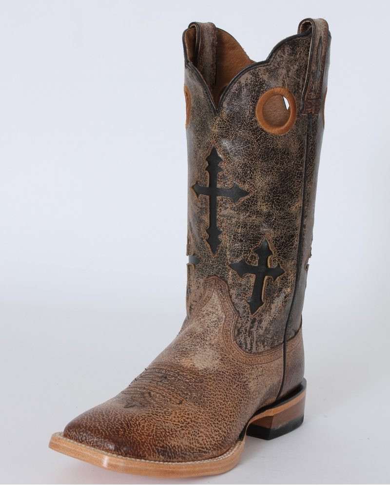 Eclipse Mens Black Boots Ariat Ranchero Quicksand