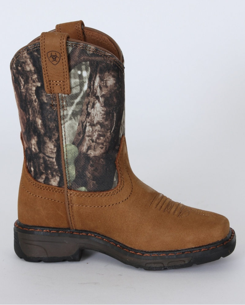 Ariat® Boys' Workhog™ Aged Bark Camo Boots - Child and Youth ...