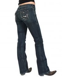 Ariat® Ladies' Turquoise Blackened Jeans