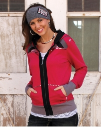 Cruel® Ladies' Chevron Fleece Zip Hoodie