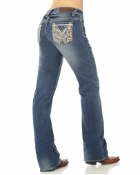 Cowgirl Up® Ladies' Lion's Mane Stonewash Jean