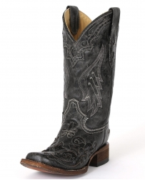Corral Boots® Ladies' Black Snake Inlay Boot