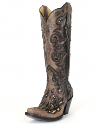 Corral Boots® Ladies' Tall Top Inlay Boots