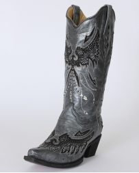 Corral Boots® Ladies' Black & Silver Eagle Boots