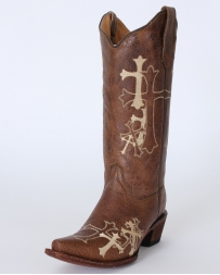 Circle G® by Corral Boots® Ladies' Side Cross Embroidered Boots