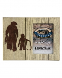Montana Lifestyles® Gone Roping Silhouette Photo Frame