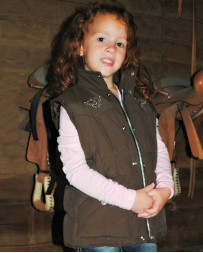 Cowgirl Hardware® Girls' Scrolling Heart Vest - Toddler