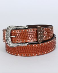 Men's Crazyhorse Basket Weave Belt
