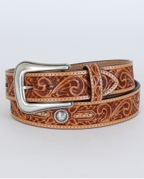 Roper© Men's Hand Tooled Leather Belt