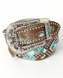 Angel Ranch® Ladies' Blue Acid Studded Belt