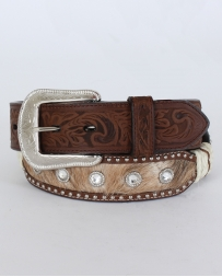 3D® Men's Tan Distressed Hair-on Belt