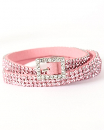 3D® Ladies' Pink Rhinestone Hat Band
