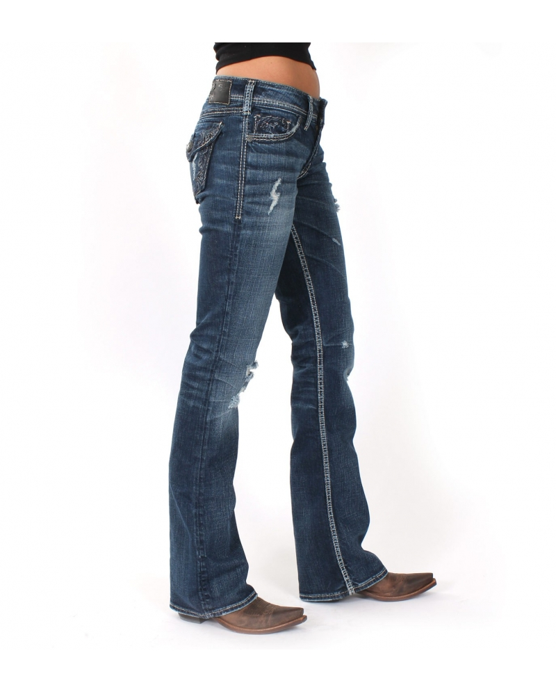 Silver Jeans® Ladies' Suki Flap Curvy Fit Jeans - Fort Brands