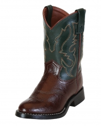 Smoky Mountain® Kids' Diego 2 Tone Roper Boots - Child