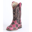 Roper® Girls' Pink & Brown Check Boots - Child