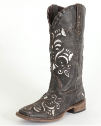 Roper® Ladies' Metallic Silver Inlay Boots