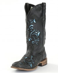 Roper® Ladies' Metallic Blue Inlay Boots