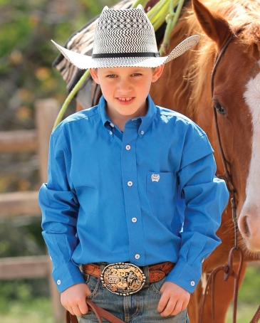 Cinch® Boys' Solid Twill Shirt