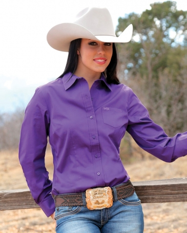 Cruel® Ladies' Solid Western Shirt