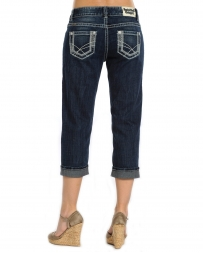Rock & Roll Cowgirl® Ladies' Abstract Embroidered Crop Jeans