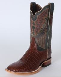 "Tony Lama® Men's Cognac Vintage Belly Caiman 11"" Boots"