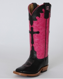 Anderson Bean® Girls' Black Dynatan & Pink Boots - Youth