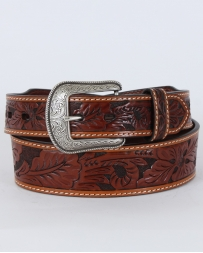 3D® Men's Antique Tan Floral Tooled Belt