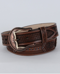3D® Men's Tooled Leather Belt With Conchos