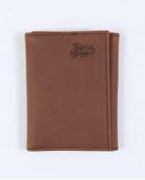 Justin® Men's Tan Distressed Tri-fold Wallet