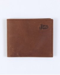 Justin® Men's Tan Distressed Bi-fold Wallet