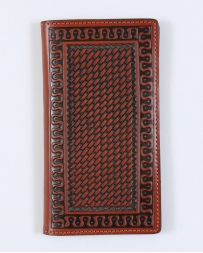 Justin® Men's Tan Basketweave Rodeo Wallet