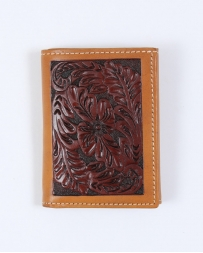 Tony Lama® Men's Tan Floral Tri-fold Wallet