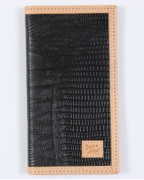 Tony Lama® Men's Black Lizard Print Rodeo Wallet