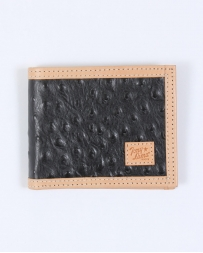 Tony Lama® Men's Black Ostrich Print Bi-fold Wallet