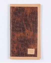 Tony Lama® Men's Rustic Ostrich Print Rodeo Wallet
