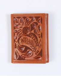 Tony Lama® Men's Natural Floral Tri-fold Wallet