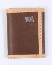 Tony Lama® Men's Brown Distressed Tri-fold Wallet