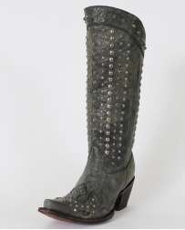 Corral Boots® Ladies' Lad Black Full Studded Boots