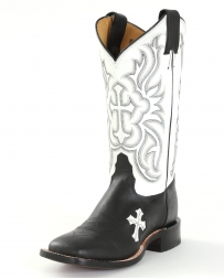 Tony Lama® Ladies' Black & White Cross Cowgirl Boots