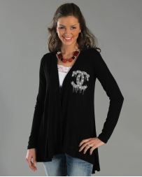 Vocal® Ladies' Black Cardigan