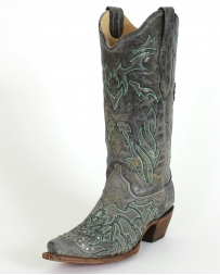 Corral Boots® Ladies' Turquoise Cross With Crystals Boots