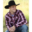 Cowboy Hardware® Men's Long Sleeve Paisley Hombre Plaid Shirt
